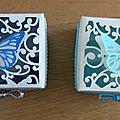 Deux petites boîtes papillons ...