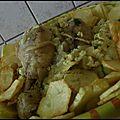 Chou fleur et poulet en sauce blanche