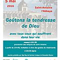 Goutons la tendresse de dieu le jeudi 5 mai fête de l'ascension