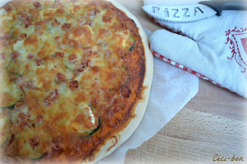 Pizza courgette