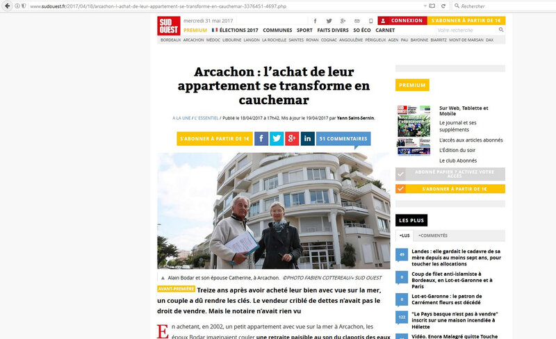 sud ouest article 450 000 euros
