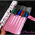trousse roulée pour fashion addicts