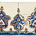 A pair of iznik polychrome tiles, turkey, circa 1580
