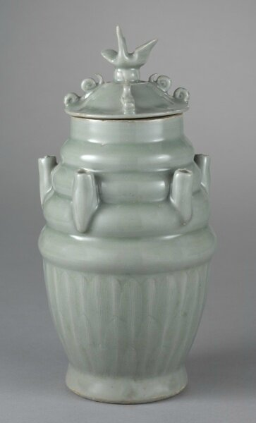 Five-Spouted Vase with Cover, 1000s-1100s, China, Zhejiang province, Longquan region, Northern Song dynasty