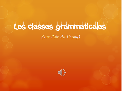 diapo classes grammaticales