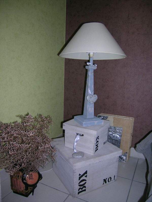 lampe patinée!