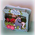 Carte boite licorne marianne design pour passion cartes creatives