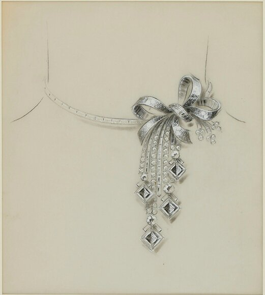 F-0010 - Van Cleef & Arpels - Attributed to René-Sim Lacaze - Necklace 1935-41
