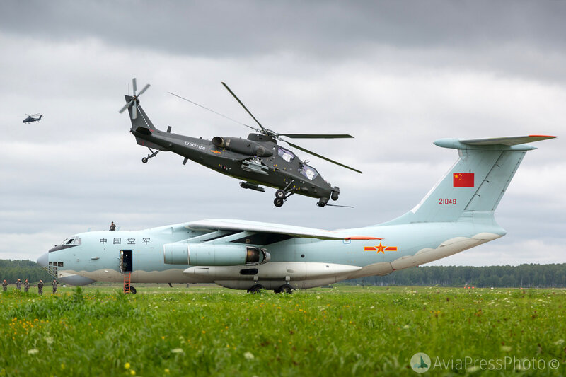 Contingent d'hélicoptères chinois à Orenburg