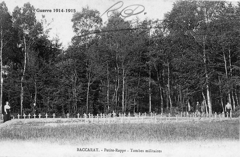 Baccarat, tombes bois Petite Rappe (1)