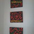 Peinture - andréw - poppy red (petit format)