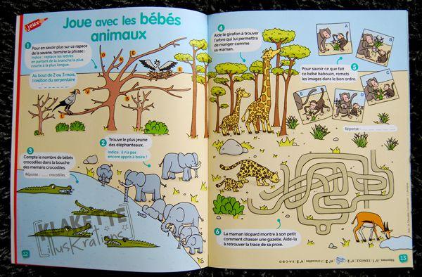 Double jeux bébés animaux savane