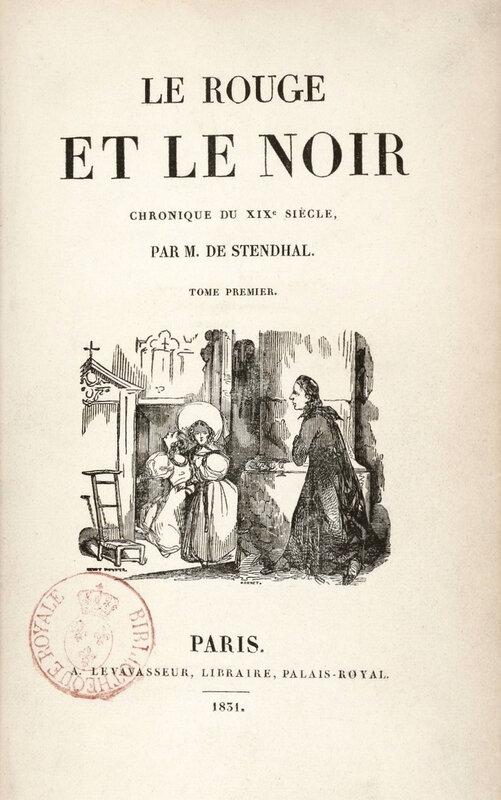 Le Rouge et le Noir, tome premier, 1831