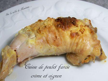 Cuisse de poulet farcie crème et oignon 1