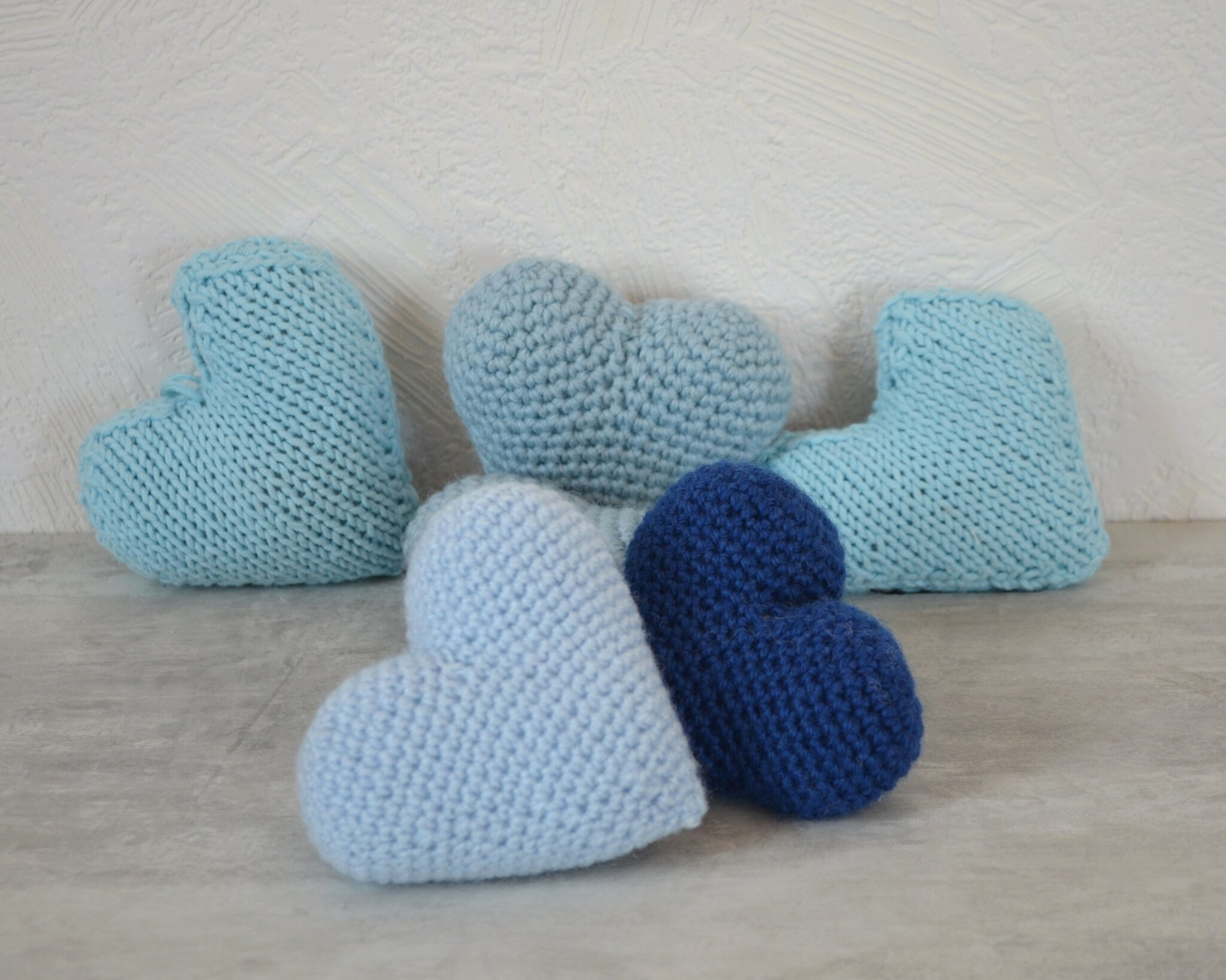 Coeur au crochet la chouette bricole Happy Blue Day