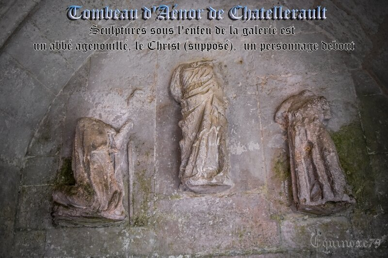 Tombeau d'Aénor de Chatellerault mère d'Aliénor d'Aquitaine Abbaye saint-vincent Nieul sur l'Autise (4)
