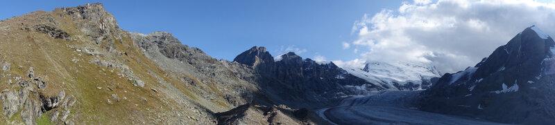Panorama du glacier de Corbassière