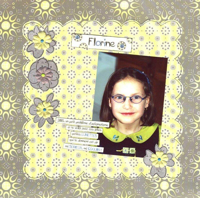 Florine à lunettes