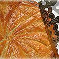 Galette des rois crème d'amandes/rhubarbe