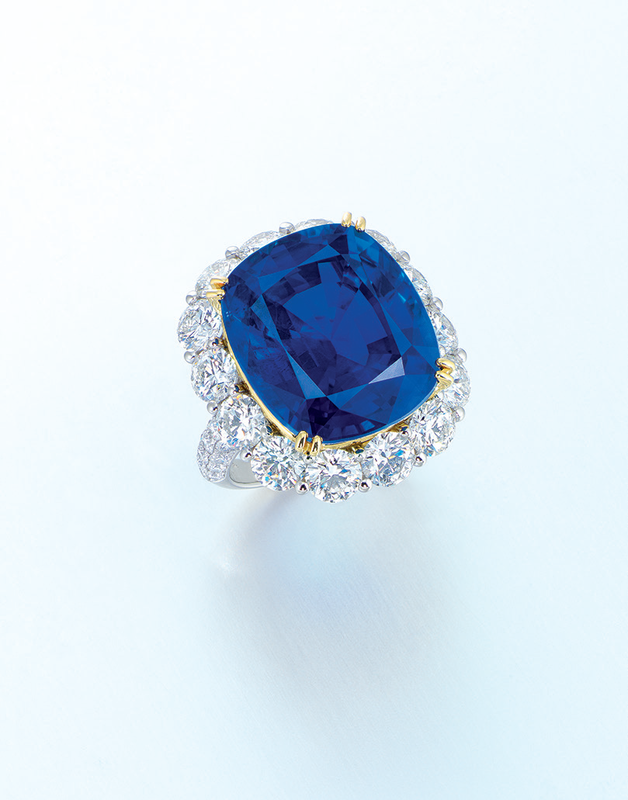 A sapphire and diamond ring, by Gimel