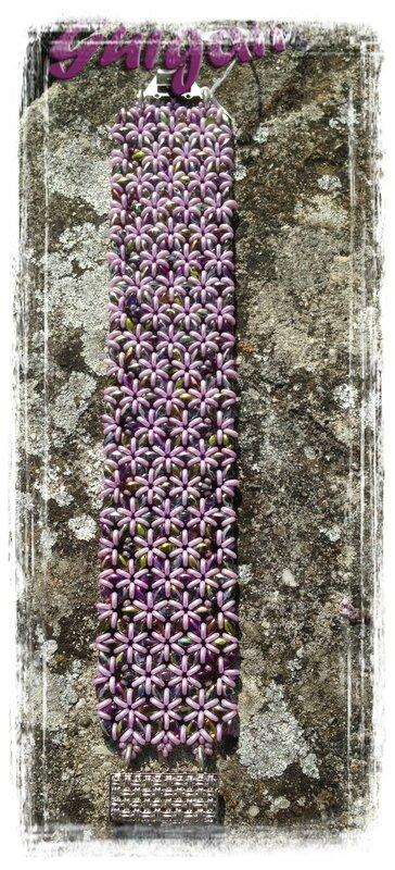 167 Bracelet O'Mosaic orchidée