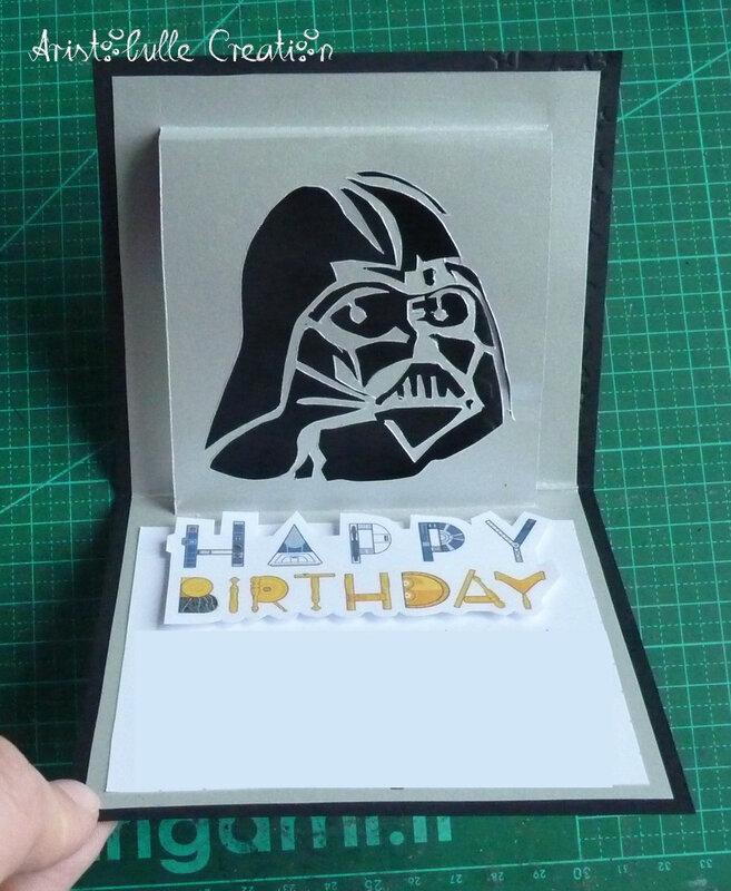 Carte anniversaire Star Wars - ouverte
