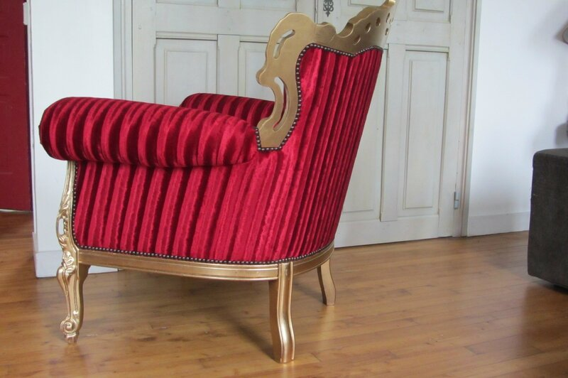 restaurer un fauteuil baroque à Brest côté sièges
