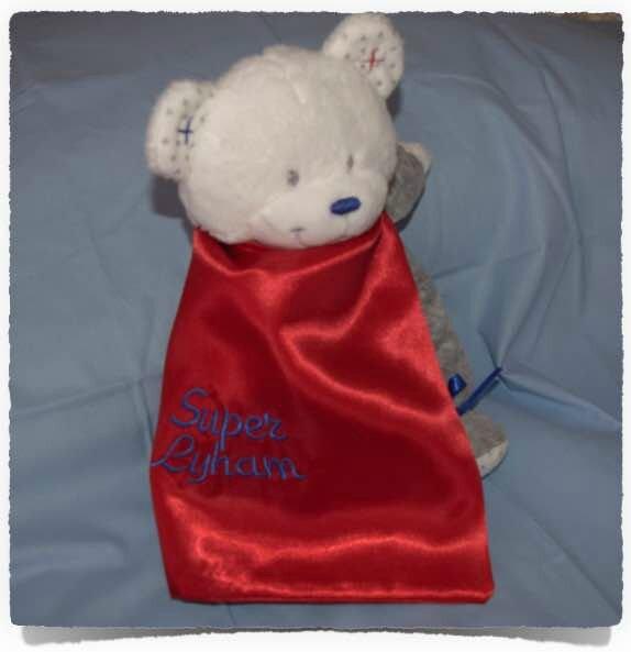Doudou personnalisée SUPER Bébé1