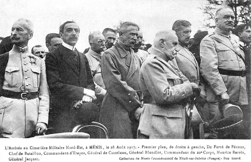 Le Ménil, 18 août 1917, Barrès, Castelnau