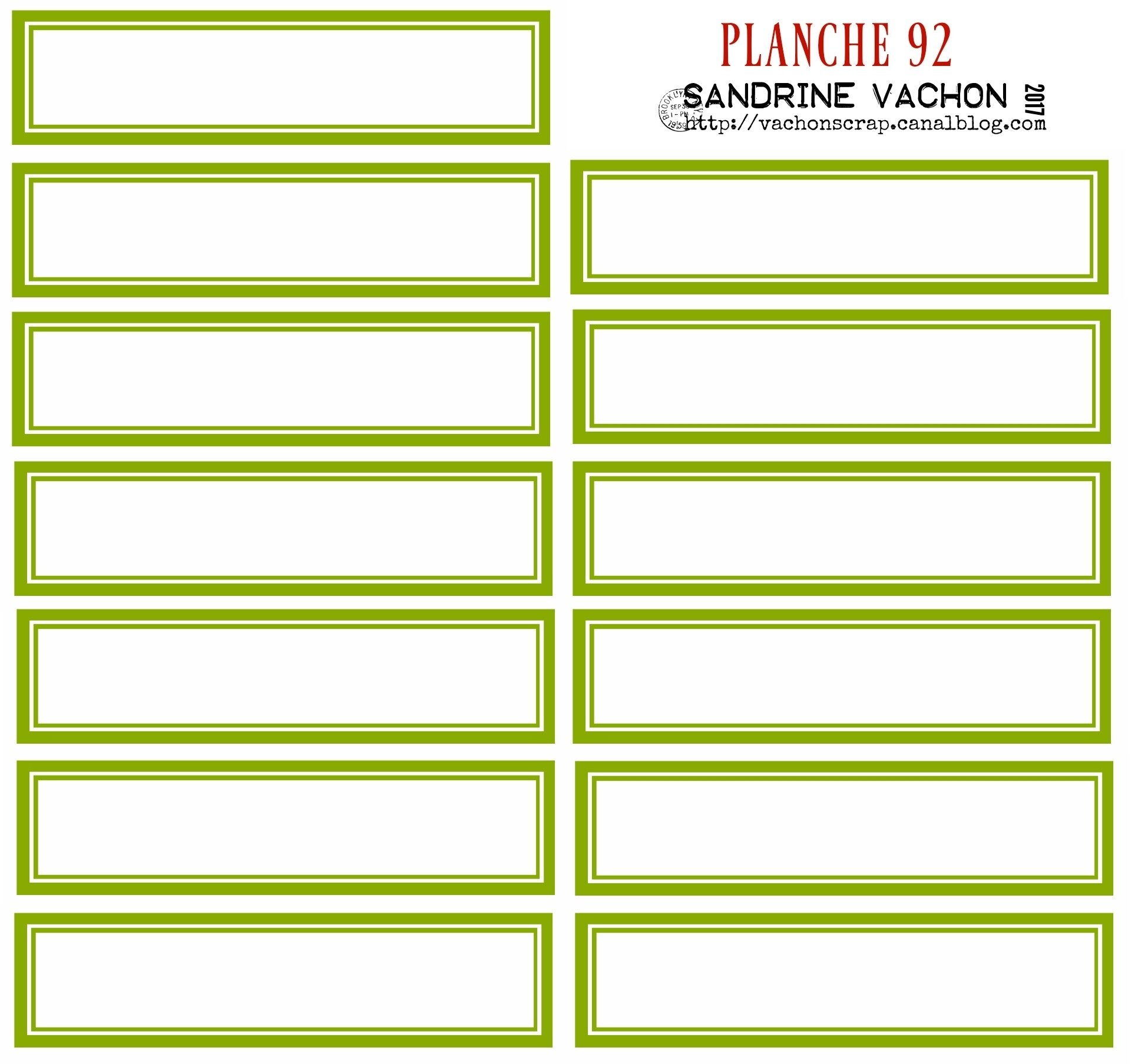 PLANCHE 92 VERT