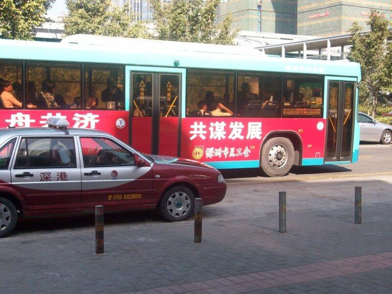 Bus et taxi
