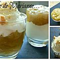 Verrines rhubarbe chantilly crumble & verrines rhubarbe fromage blanc