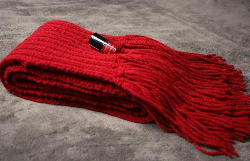 Echarpe rouge1