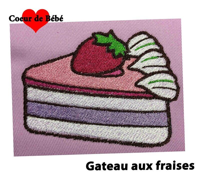 gateau fraises