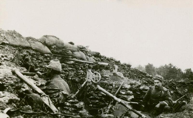 mitrailleuse face Bois Jurat, 15 oct 1914