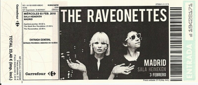 Billet The Raveonettes