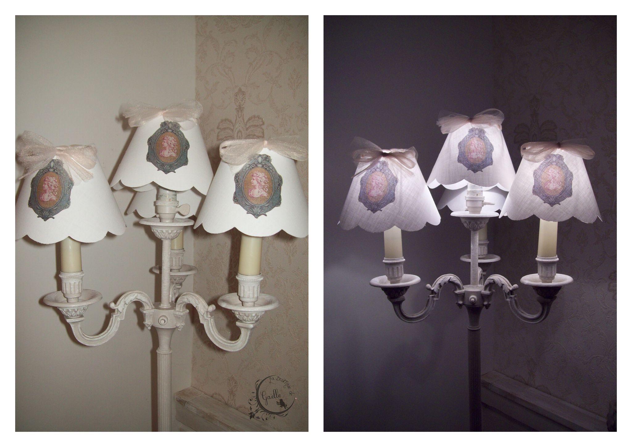 Abat-jour gustavien pour un grand lampadaire...