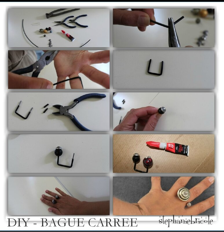 DIY BAGUE CARREE