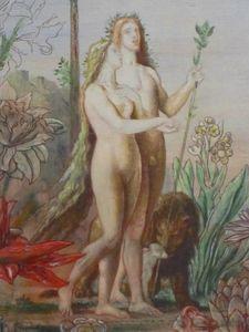 Panneau n°2 de La vie de l'humanité Gustave Moreau