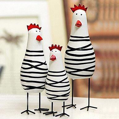 poules noir et blanc