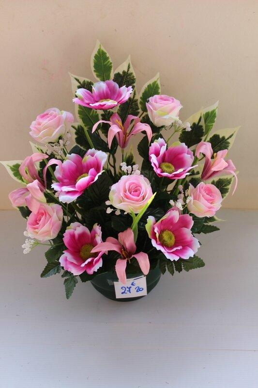 fleurs artificielles cimetière 206