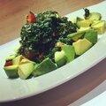 Salade kale aux cranberries et feta