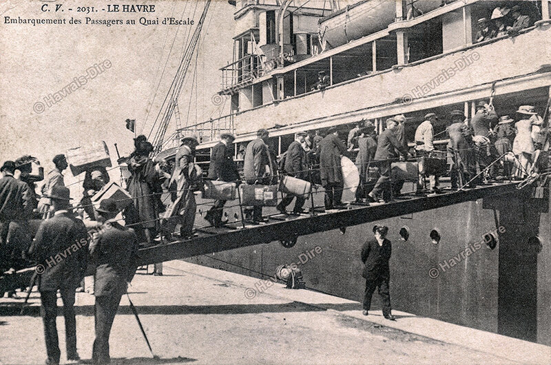 Emigrants quai s'escale ALG
