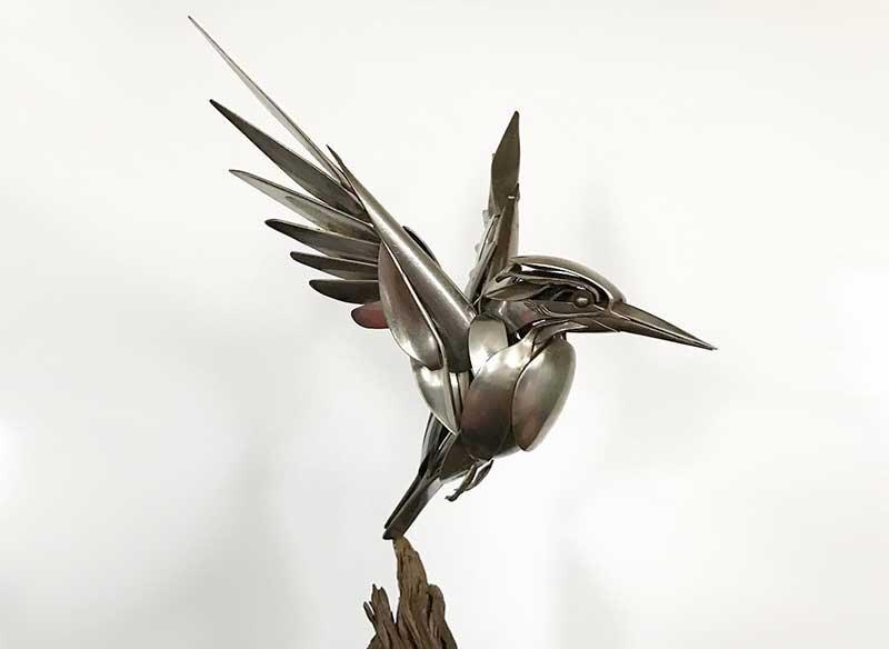 matt wilson sculpture-oiseaux-matt-wilson-fourchettes-couteaux-cuillere-1