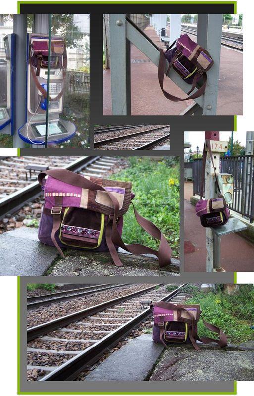 le sac prend le train
