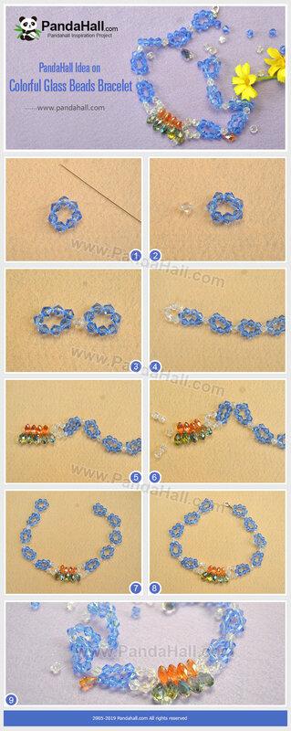 3-PandaHall-Idea-on-Colorful-Glass-Beads-Bracelet