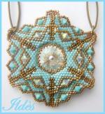 pendentif inspiration turquoise bronze