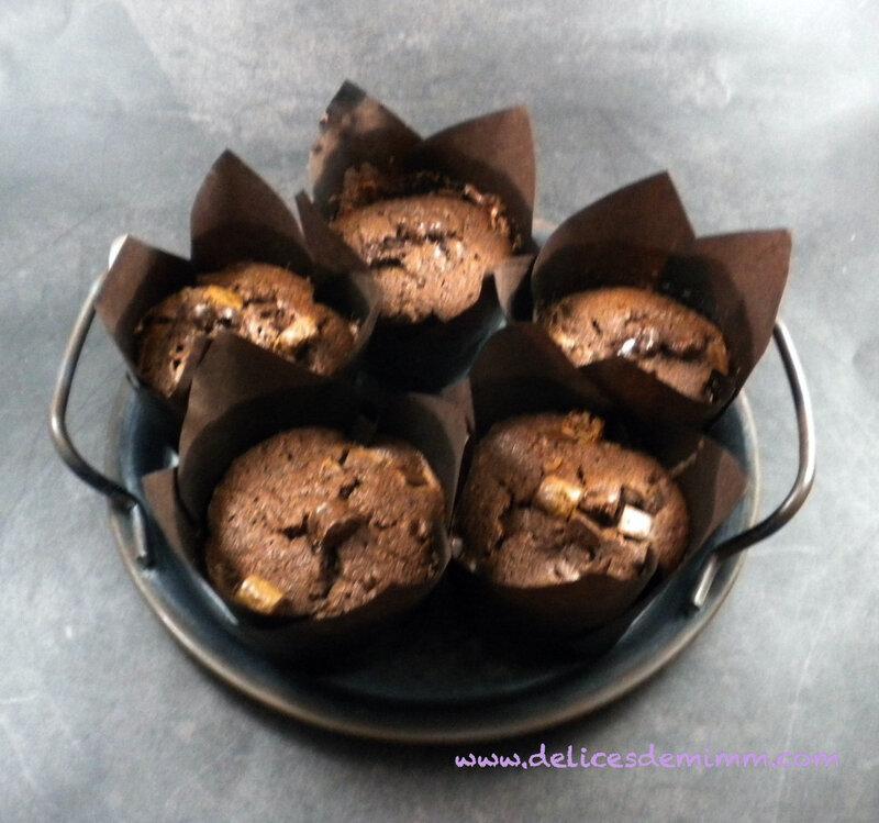 Muffins bien moelleux aux 2 chocolats 5