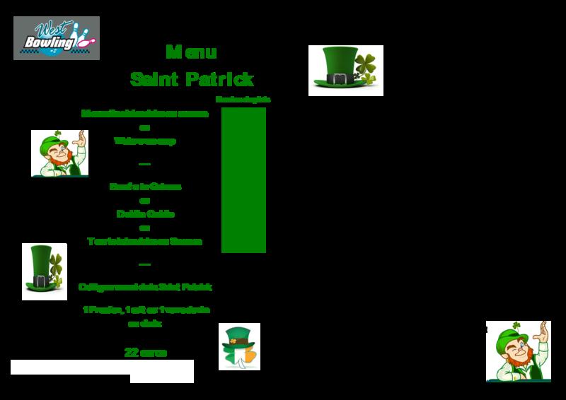 saint patrick resa et menu