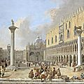 Luca carlevarijs (1663 - 1730), the piazzetta at venice